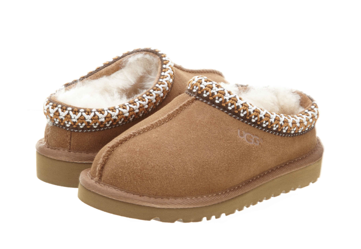 ce4ec5ef1da UGG Australia Kids Tasman 5252 Chestnut Brown SLIPPER Shoe Size 6