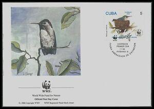 Uni Fdc Faune Oiseaux Kolibri Bienenelfe Hummingbird Bijoux-enveloppe Wwf Ba81-gsbrief Wwf Ba81fr-fr Afficher Le Titre D'origine Pas De Frais à Tout Prix