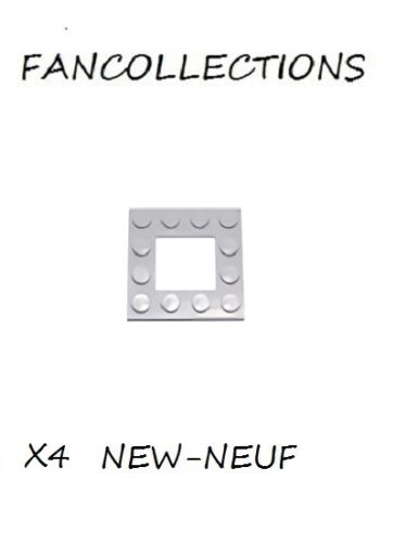 Light Bluish Gray Plate Modified 4x4 with 2x2 Cutout LEGO x 4 64799 NEUF