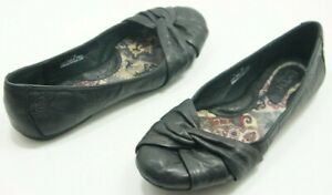 Born-LILLY-Black-Leather-Ballet-Flats-Shoes-Women-039-s-Size-7
