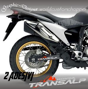 Details Zu 2 Aufkleber Abziehbild Stickers Schwinge Honda Transalp Motorrad Enduro