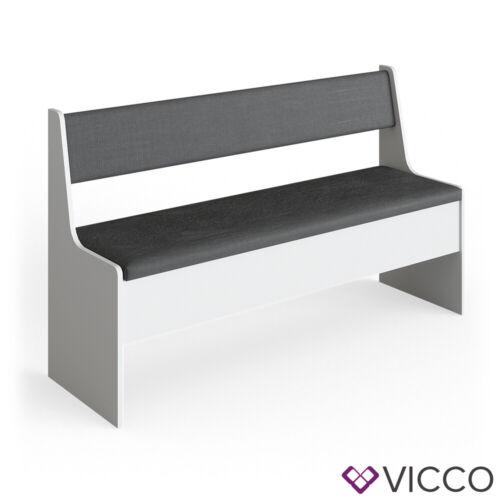 Vicco banc coffre 137cm blanc banc cuisine pour table a manger coin repas
