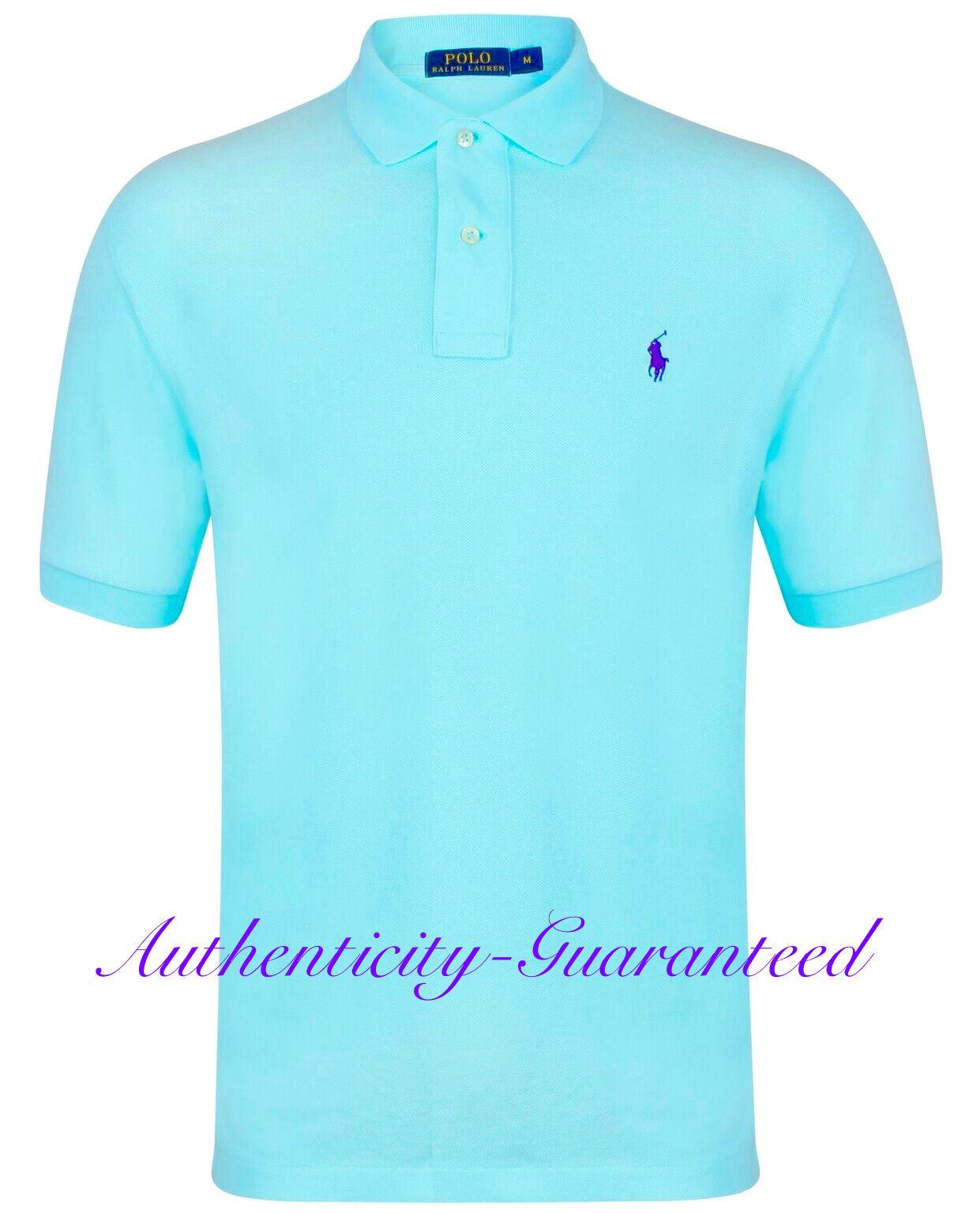 Ralph Lauren Mens Classic Fit Short Sleeve Polo Shirt Turquoise S - XXL RRP