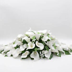 Details About Artificial Wedding Flowers Top Table Decoration Arrangement White Calla Lily