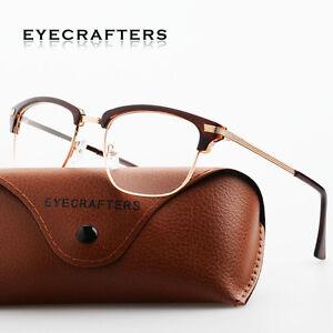 695e1d3b15 Retro Women Men Fashion Vintage Metal Eyeglass Frame Glasses Clear ...