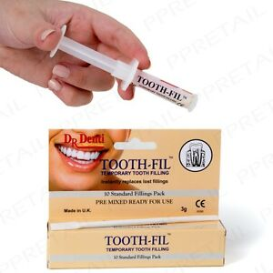 Genuine dr denti tooth fil temporary filling dental hole repair kit image is loading genuine dr denti tooth fil temporary filling dental solutioingenieria Image collections