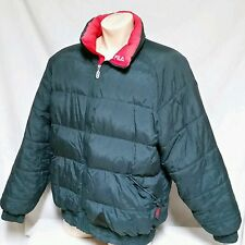 VTG Fila Bubble Down Coat 90's Jacket Ski Sport Colorblock Winter Puffer XXL 2XL