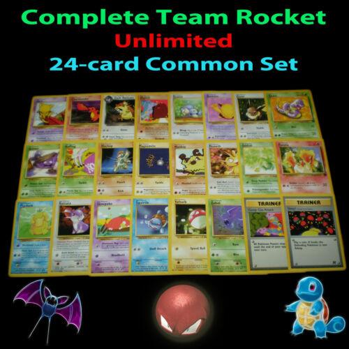 PL Unlimited COMPLETE Pokemon TEAM ROCKET Card Common Set Trainer Charmander TCG