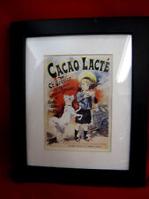 Cacao Lacte Vintage Chocolate Milk Advertisement Poster Art Print Framed
