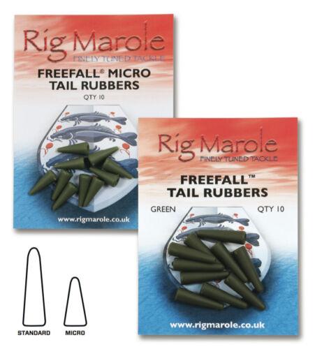 Rig marole chute libre soft queue caoutchoucs pêche à la carpe tackle standard micro 10PCS