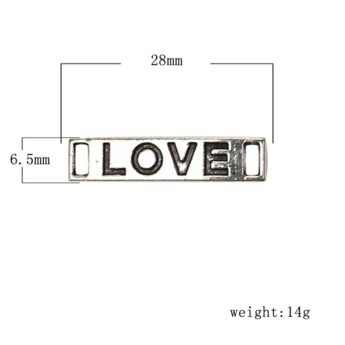 Words Tags Connectors DIY Jewelry Making Two Holes 8pcs//10pcs Charms Pendants