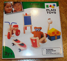 New In Box Plan Toys Fun Set 9711 Dollhouse Series Hobbyhorse Skateboard Bear