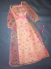 Mattel 1979 Kissing Barbie #2597 Pink Nylon Dress Lips Roses Heel Mule Shoes