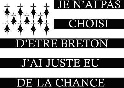 Trend Mark Drapeau Breizh Breton Chance 10cm Autocollant/sticker Moto Biker da148 Shrink-Proof