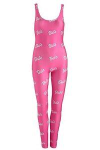 Babe Unitard Playsuit Jumpsuit Top Pink Cute Doll Womens Tumblr Fun