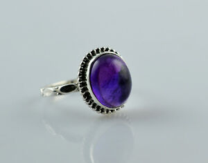 Amethyst-Silver-Ring-925-Solid-Sterling-Silver-Handmade-Jewelry-US-AMY-010