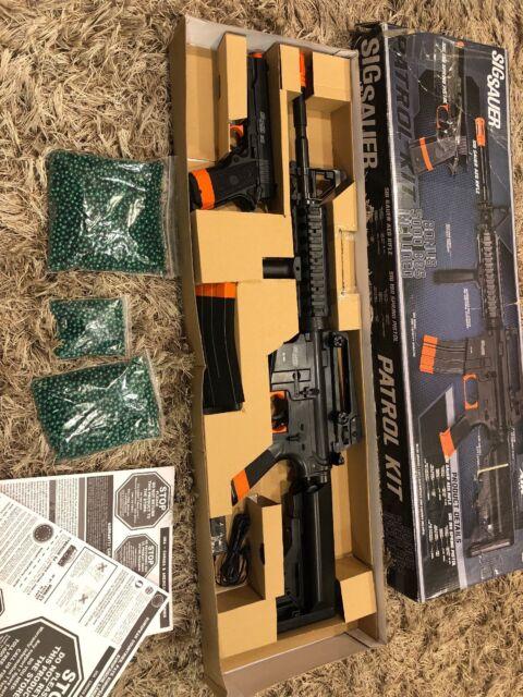 SIG SAUER Patrol Full Auto Electric AEG Airsoft Rifle & Spring Pistol Kit