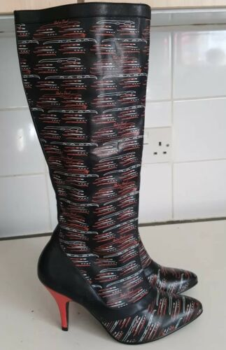 Size 5 Zip Red Knee 38 Side Boots Or Uk Womens Eu Dead High 8w8qRgZx
