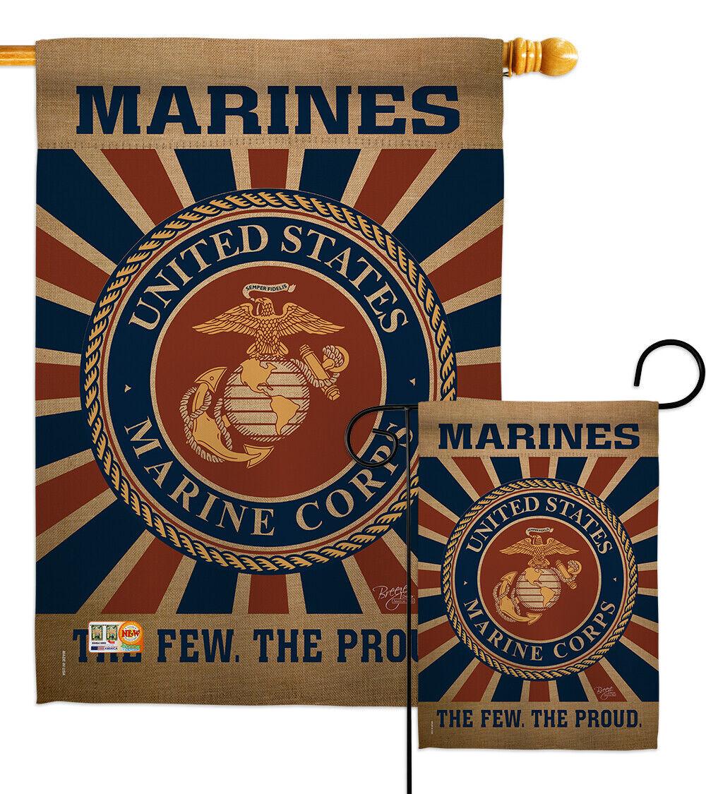 United States Marine Corps Flag Garden Flag House Decor Waterproof Yard Banner