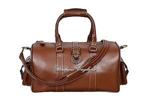 a431c9ca258ae Ladies Men's Burnish Weekend Leather Bag Holdall Travel Gym Real ...