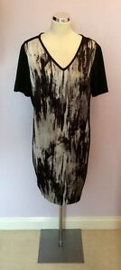 Damsel Vestito In Taglia Distress 99 £ Stampa Bnwt Flo Black Grey Rrp 16 FfqdSwAx