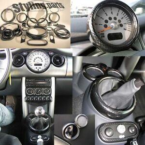 MINI-UNO-COOPER-R50-R53-2001-11-2006-R52-2002-03-2009-CARBONIO-LOOK-SET-26tlg