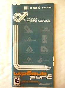57971-Instruction-Booklet-Wipeout-Pure-Sony-PSP-2005-UCUS-98612