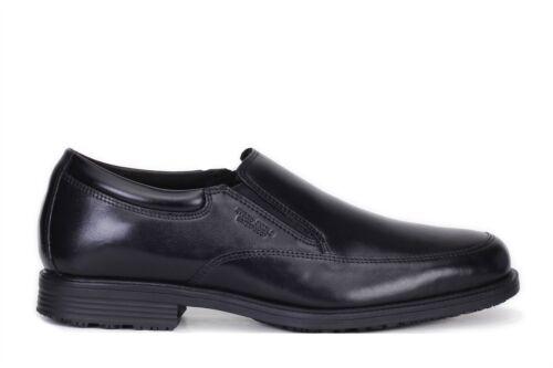 Rockport Mens Essential Details Waterproof Slip On Shoes Black V75100