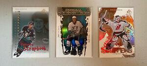 Hockey NHL 00-01 Sp Auth (3 Card Lot) Teemu Selanne, Martin Brodeur, Paul Kariya