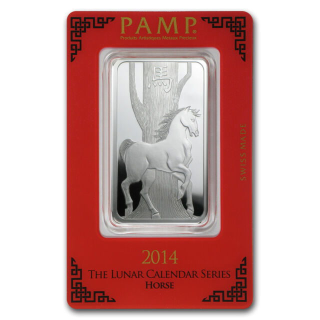 1 oz Silver Pamp Suisse Year of the Horse Bar - In Assay - SKU #78605