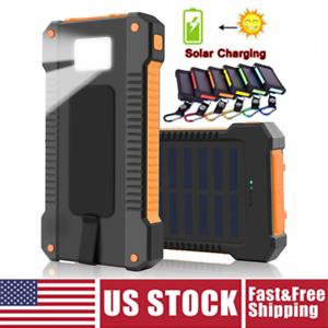 Solar Power Bank 2000000mAh Portable Dual USB External Battery Charger For Phone