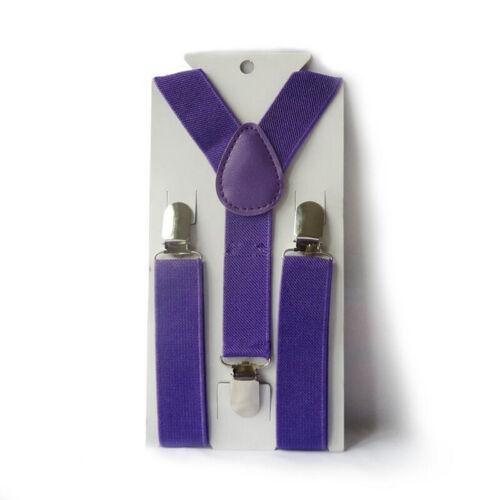 Toddler Kids Baby Adjustable Suspender Girl Boy Clip-on Elastic Y-back Brace New