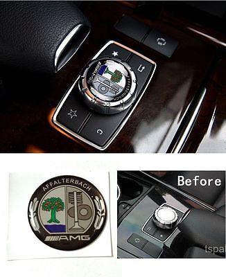 New Metal AMG Affalterbach emblem multiplayer control button cap Mercedes Benz
