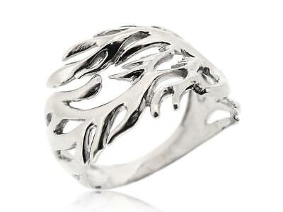 925 Sterling Silver Mens Vintage Carved 3d Dragon Wrap