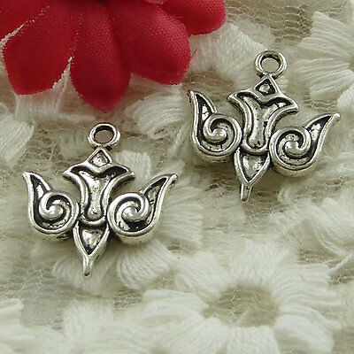 free ship 40 pieces Antique silver dove charms 20x18mm #2684
