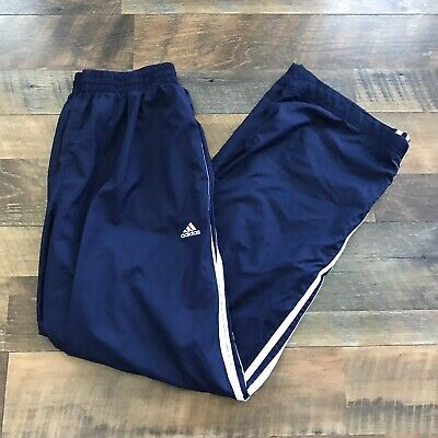Vintage Adidas Pants Sweatpants Men Size Small Navy Blue White 3 Stripes Loose | eBay