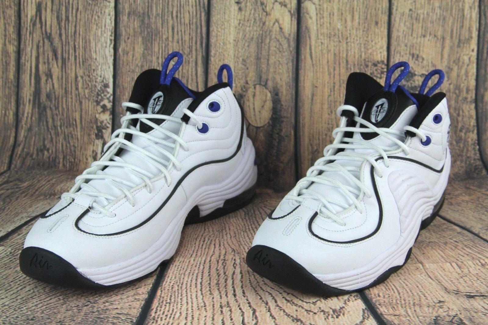 Nike Penny II Basketball shoes White Black Royal blueee 333886-100 SZ NEW