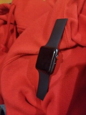 Apple Watch Series 1 42mm Aluminum Case Black Sport Band - (MP032LL/A)