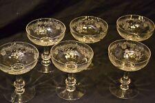 6 coupes à champagne cristal saint louis massenet