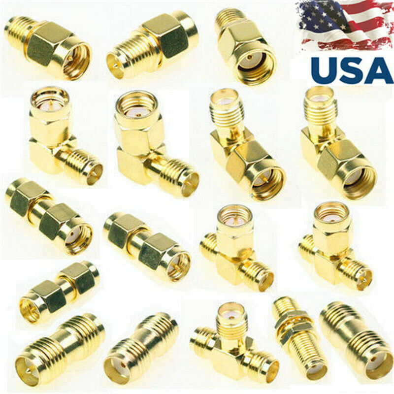 18 Pcs SMA Kits Connector Male Female Plug Antenna Converter Adapter Coax Set. Available Now for 10.99