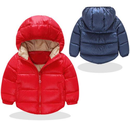 Nouveau-né Enfants Filles Garçons Manteau Vêtements mignon veste hiver chaud combinaison de ski NEUF