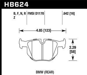 Disc-Brake-Pad-Set-Coupe-Rear-Hawk-Perf-HB624F-642