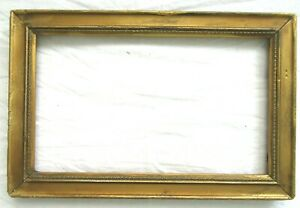 SM-Antique-Fit-6X10-034-Gold-Picture-Frame-Wood-Gesso-Fine-Art-MINIATURE-COUNTRY