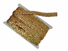 Stretch Sequin Trim Holo Gold (10m) 2 Row | Best Price on Ebay | Strung Sequins