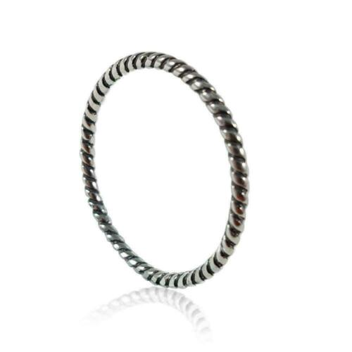 Brand New Solid Sterling Silver Toe Ring Spiral Style Fitted Sizes 2.5-8
