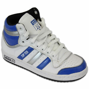 58b6b2f880320 Details about Boys Adidas Top Ten Hi Top Trainer White/Blue/Silver G45810  Size UK 3.5_4.5