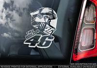 Valentino Rossi #46 - Moto GP Car Window Sticker - MotoGP Helmet Design - TYP2