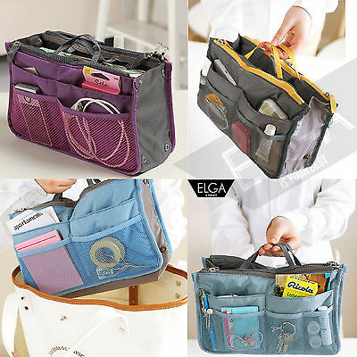 Travel Insert Handbag Organiser Purse Large liner Organizer Tidy Bag