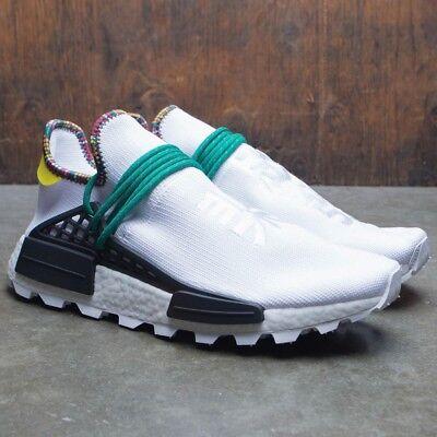 buy popular 62f99 225be Adidas NMD Hu Pharrell Inspiration White Black Green Size 11.5. EE7583  yeezy pk | eBay