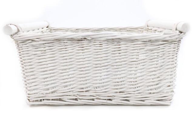 Children Kids Baby Nursery Storage Organiser Decoration Decor Wicker Basket White Medium 38x30x18cm Ebay